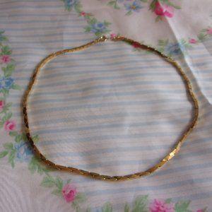 "Vintage Boston Link Gold Tone Chain Necklace 18"" L"
